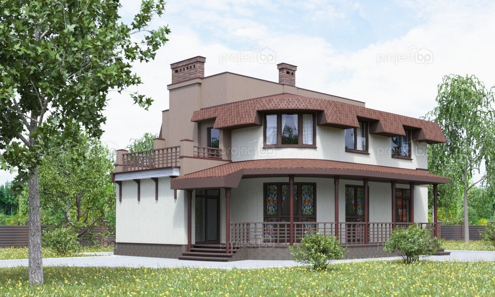 Проект дома в европейском стиле для узкого участка 153-A